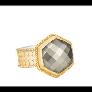 *SUMMER SALE* Anna Beck Hexagon Pyrite ring